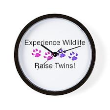 Experience Wildlife Raise Twins Wall Clock