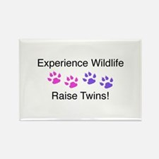 Experience Wildlife Raise Twins Rectangle Magnet