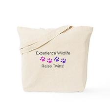 Experience Wildlife Raise Twins Tote Bag