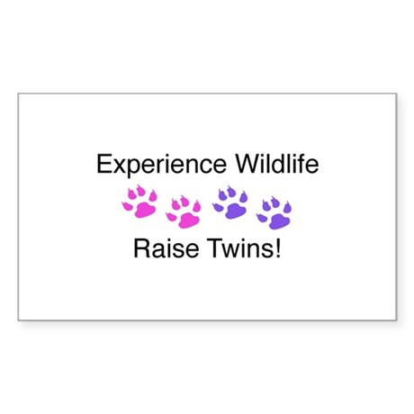 Experience Wildlife Raise Twins Sticker (Rectangle