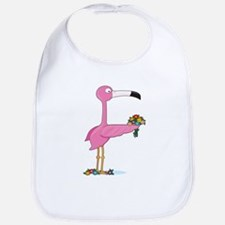 Animal Alphabet Flamingo Bib