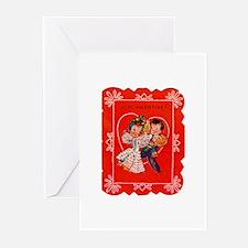 Vintage Valentine Greeting Cards (Pk of 10)