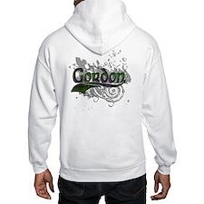 Gordon Tartan Grunge Jumper Hoody