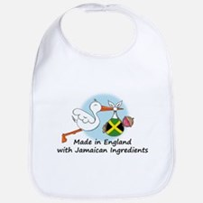 Stork Baby Jamaica England Bib