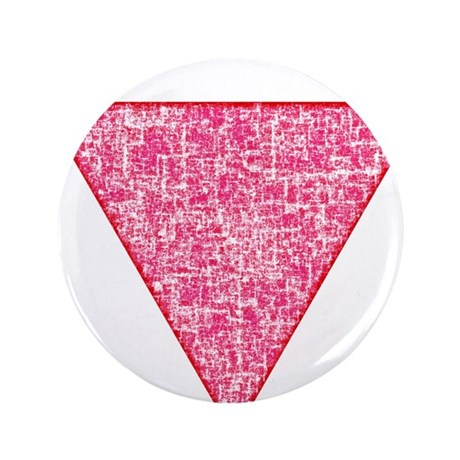 """Vintage Pink Triangle 3.5"""" Button"""