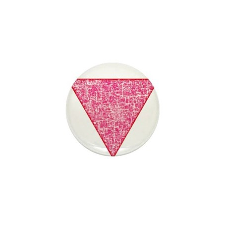 Vintage Pink Triangle Mini Button