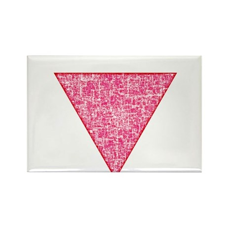 Vintage Pink Triangle Rectangle Magnet