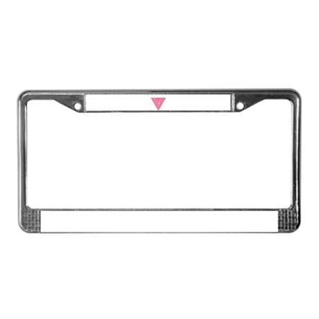 Vintage Pink Triangle License Plate Frame