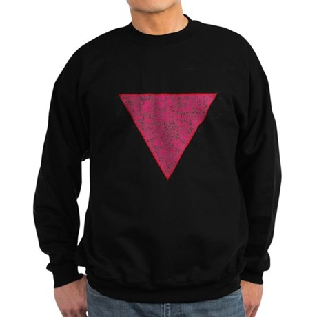 Vintage Pink Triangle Sweatshirt (dark)