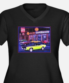 Mopar Madness Car Dealer Women's Plus Size V-Neck