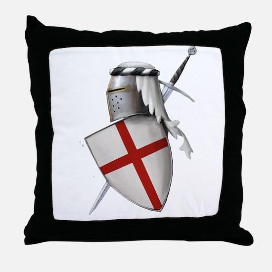 Shield of Saint George Throw Pillow