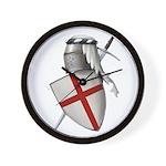 Shield of Saint George Wall Clock