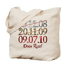 UK Dogs Rule Dates Tote Bag