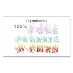 Organic Woman Decal