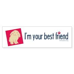 Best Friend Bunny 1 Sticker (Bumper)
