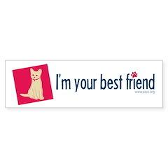 Best Friend Cat 1 Bumper Sticker