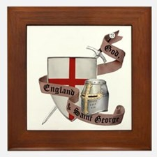 England and Saint George Framed Tile