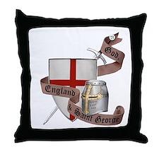 England and Saint George Throw Pillow