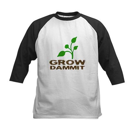 Grow Dammit Kids Baseball Jersey