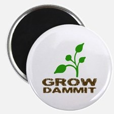 """Grow Dammit 2.25"""" Magnet (100 pack)"""