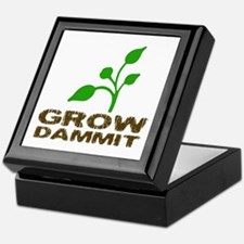Grow Dammit Keepsake Box
