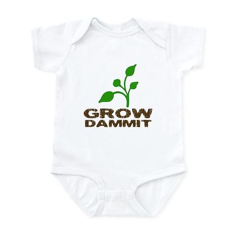 Grow Dammit Infant Bodysuit