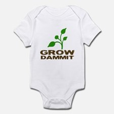 Grow Dammit Infant Bodysuit