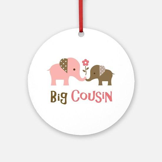 Big Cousin - Elephant Ornament (Round)