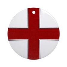 Red Cross Ornament (Round)