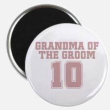 """Pink Groom Grandmother 10 2.25"""" Magnet (10 pack)"""