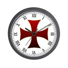 Templar Cross Wall Clock