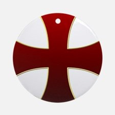 Templar Cross Ornament (Round)