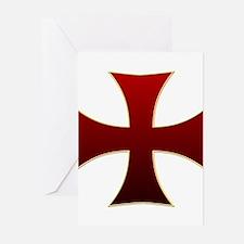 Templar Cross Greeting Cards (Pk of 20)