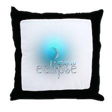 Eclipse 07.09.10 Blue Moon Throw Pillow