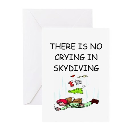 skydiving gifts Greeting Cards (Pk of 10)