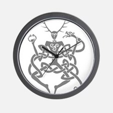Grey Cernunnos Wall Clock