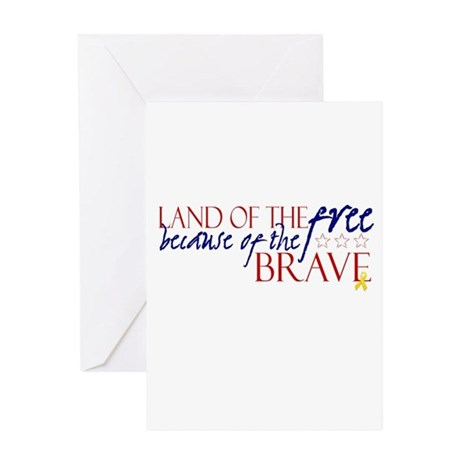 Land of the free ... brave Greeting Card