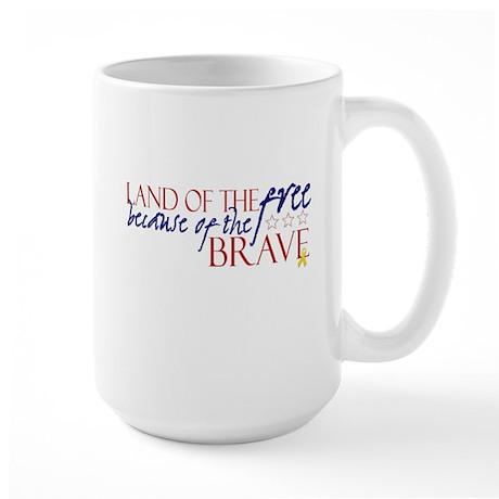 Land of the free ... brave Large Mug