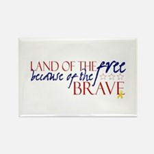 Land of the free ... brave Rectangle Magnet (10 pa