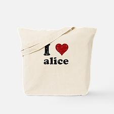 I heart alice Tote Bag