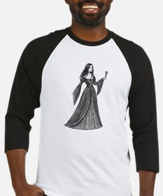 Gothic Lady with Fan Baseball Jersey