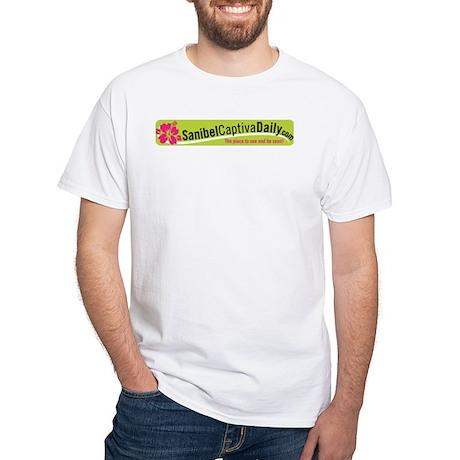 Sanibel Captiva Daily Logo White T-Shirt