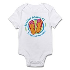 Sanibel Island - Flip Flops Infant Bodysuit