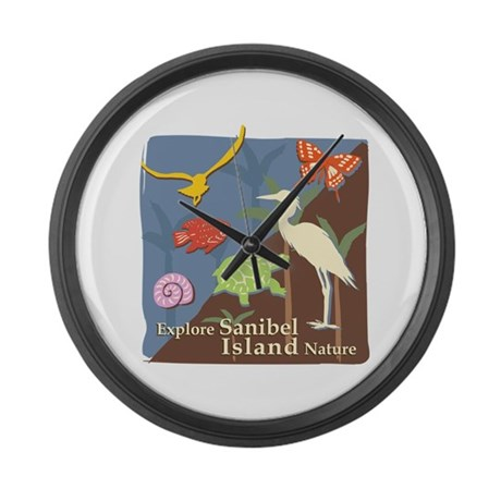 Sanibel Island - Explore Large Wall Clock