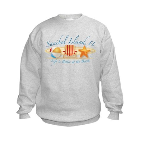 Sanibel Island - Life is Bett Kids Sweatshirt