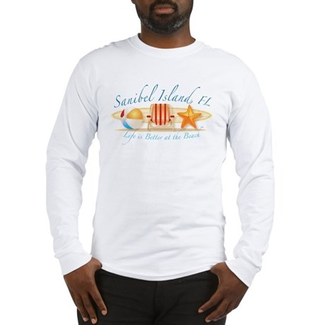 Sanibel Island - Life is Bett Long Sleeve T-Shirt