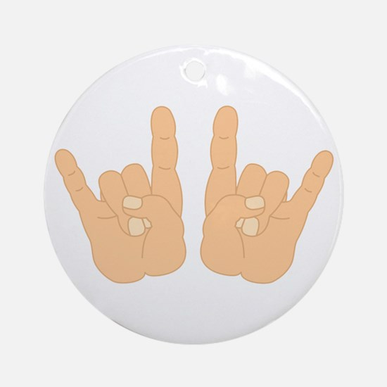 Rock & Roll Hands Ornament (Round)