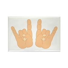 Rock & Roll Hands Rectangle Magnet