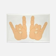 Rock & Roll Hands Rectangle Magnet