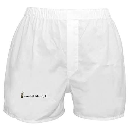 Sanibel Island - Pelican Boxer Shorts